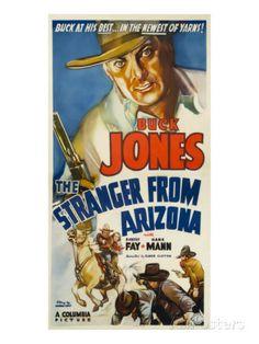 buck jones movie poster belgian | The Stranger from Arizona, Buck Jones, 1938…