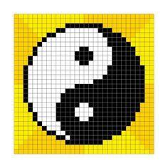Pixel-Art Yin Yang Symbol Prints by wongstock Bead Loom Patterns, Perler Patterns, Beading Patterns, Cross Stitch Patterns, Knitting Patterns, Color Patterns, Bracelet Patterns, Art Patterns, Crochet Patterns
