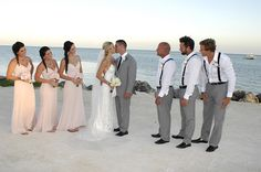 Our beautiful bride Ali in the Katie May Poipu gown with her wedding party.