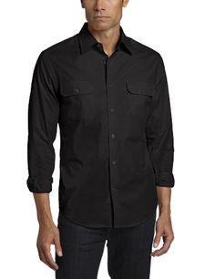 6b7a3c0ef4505f Perry Ellis Men's Long Sleeve Double Pocket Solid « Clothing Impulse  Johnston Murphy, Perry Ellis