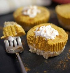 vegan no bake pumpkin tarts