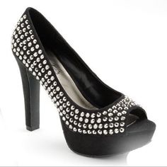 New Chunky Heels Platforms Soft Material & Studs 8