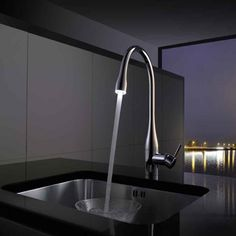 KWC Eve Monobloc Mixer with Pull-Out Spray & Luminaqua LED Taps, Tool Design, Mixer, Eve, Bathroom, Kitchen, Home Decor, Washroom, Cooking