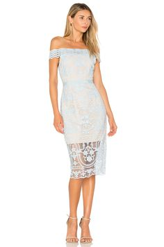 0fafc166bccf19 aijek Padua Off Shoulder Dress in Crystal Blue
