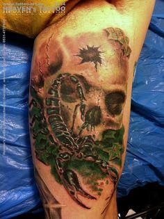 Skull & Scorpion tattoo