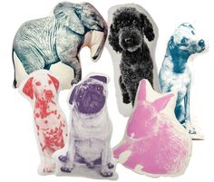Areaware printed animal pillows