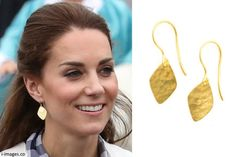 hrhduchesskate:  Canada Tour, Day 3, Bella Bella, British Columbia, September 26, 2016-Duchess of Cambridge's new earrings by Canadian designer Pippa Small in 18k gold