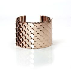 Rose Gold Rock Scales Cuff