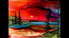 ALCOHOL INK ART BY JEWEL - YouTube
