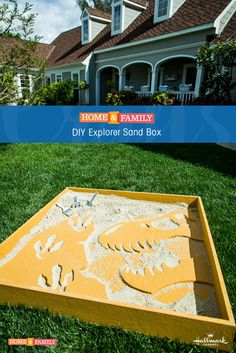 Explorer Sand Box - Unleash your inner adventurer with this explorer sandbox DIY from @paigehemmis! Catch Home and Family weekdays at 10/9c on Hallmark Channel!