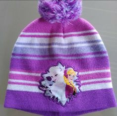 7-16 Purple Sparkle Pom Pom Beanie /& Mitten Set NEW $26 SO Girls Size M//L