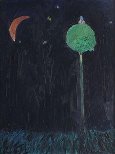 Stars and moon GIULIAN NARDIN b. 1978, Craiova oil on canvas, 100 × 76,5 cm, signed upper left, in black, Nardin Valoare estimativă: € 1.000 - 1.600 Prețul de pornire se va situa sub valoarea minimă a evaluării  Conservation status: for further technical details, do not hesitate to contact loredana.codau@artmark.ro