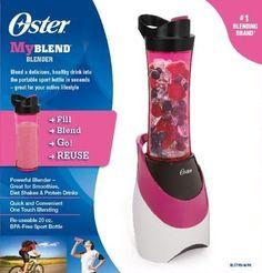 Oster My Blend 250-Watt Blender w Travel Bottle Smoothies Protein Shakes Pink
