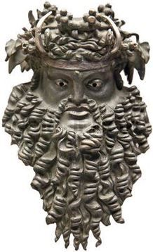 Bacchus mask, the God of wine | Ancient Greece