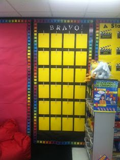 Fourth Grade Fanatic: Classroom Pictures Update 4th Grade Classroom, Classroom Walls, Classroom Community, Classroom Design, Classroom Displays, Future Classroom, Classroom Themes, Hollywood Theme Classroom, Classroom Pictures