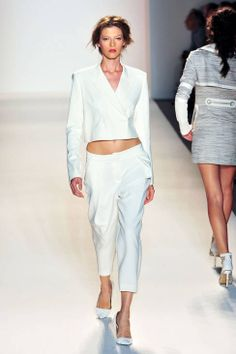 Rachel Zoe SS14 RTW runway | not sure how wearable this is, but there's something compelling about it