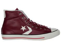 Converse Star Player EV Mid Burgundy Leather Converse Star Player EV Mid Burgundy Leather Trainers Colourway