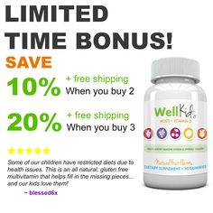 WellKids Multi + Vitamin D buy more, save more! #backtoschool #vitaminD #healthyliving