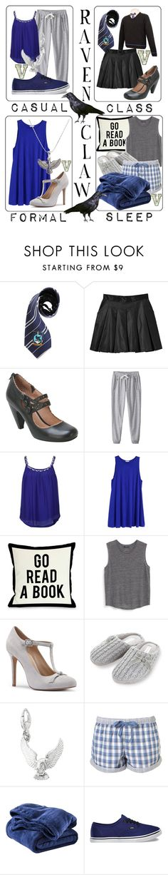 """Ravenclaw Themed Outfits"" by fabfandoms ❤ liked on Polyvore featuring Elope, Monki, Miz Mooz, Suncoo, H&M, One Bella Casa, MANGO, Sole Society, Rocha.John Rocha and Circo"