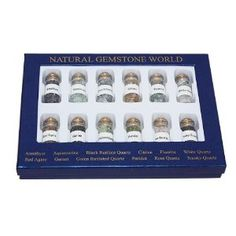 """12 Bottles Of Natural Chip Gemstone In Box 9.5X7.00""""  http://electmejewellery.com/jewelry/loose-gemstones/12-bottles-of-natural-chip-gemstone-in-box-95x700-com/"""