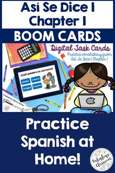 Need a fun way to practice Spanish vocabulary from Así Se Dice 1 Chapter This Boom deck includes matching activities for all 64 words in the chapter. Kids can play on any device: computer, tablet, phone, etc. Spanish Lesson Plans, Spanish Lessons, Spanish Games, Spanish Class, Spanish Teaching Resources, Teacher Resources, Homeschooling Resources, Simple Spanish Words, Learn To Speak Spanish