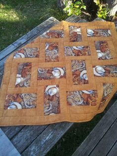 cowboy quilted table topper