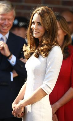 Catherine, Duchess of Cambridge arrives at The Royal Marsden Hospital at Belmont, Sutton on September 29, 2011 in London, England.