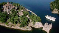Boldt Castle, Heart Island, Thousand Islands, New York In 1904, Waldorf-Astoria hotel founder George Boldt halted construction on his 120-room, Rhineland-style castle when his wife died, and it was finally restored in 1977. You can also visit Boldt's yacht house on neighboring Wellesley Island to see an 1892 steam yacht typical of those plying the St. Lawrence River in that era.