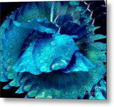 Vivid blue rose flower abstract.  Image available on several products.  Photography and art by Smilin' Eyes Treasures.