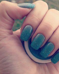#sparkle #blue #nails