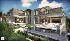 Malan Vorster - Clifton Residence 01 Residential Architecture, Interior Architecture, Interior Design, Concrete Houses, Architect House, Modern Contemporary, Patio, Mansions, House Styles