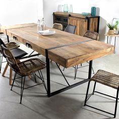 Table à Manger avec Rallonges Industrielle - Made In Meubles
