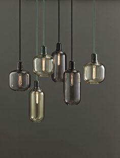 Mistige voorjaars tinten met een touch of gold... Amp lamp Normann Copenhagen