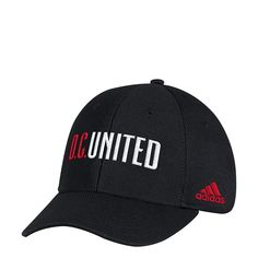 b97bb5ada68d8 adidas MLS D.C. United Adult Men Wordmark Mesh Structured Adjustable Hat