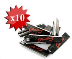 Papier à rouler Smoking Slim Deluxe noir x10