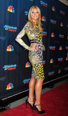 Heidi Klum arriving at 'Americas Got Talent' Season 8 pre-show red carpet event at Radio City Music Hall in New York City - July 23, 2013 - Photo: Runway Manhattan