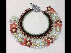 (Tutorial) Summer Blossom Neck/Bracelet PART 1 (Video 49) - YouTube