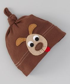 Look at this Victoria Kids Brown Dog Single-Knot Beanie on #zulily today!