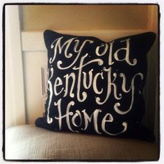 My Old Kentucky Home chalkboard style script state song  by kijsa, $32.00