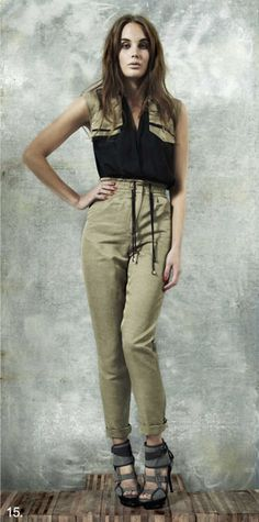 Good One 2010 Collection For All Things Lovely, Sustainable Fabrics, Cat Walk, Recycled Fabric, Ethical Fashion, Parachute Pants, Upcycle, Sportswear, Khaki Pants