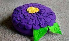 DIY Beautiful Flower Cushion