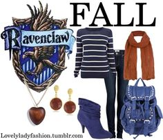 """Ravenclaw Seasons - Fall"" by nearlysamantha on Polyvore"