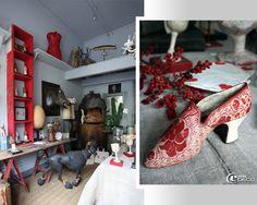 Aux Avenières en Isère, la boutique de Mélanie Bourlon, sculpteur en papier mâché