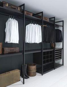 Faire un dressing pas cher soi-même facilement Wardrobe Storage, Wardrobe Closet, Closet Bedroom, Closet Space, Closet Storage, Bedroom Decor, Wardrobe Ideas, Storage Shelving, Storage Ideas
