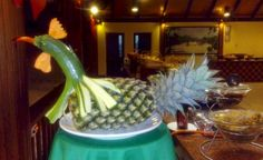 Best of the Maldives: Fruit Art – Paradise Island Maldives Resort, Paradise Island, Fruit Art, Carving, Table Decorations, Home Decor, Decoration Home, Room Decor, Wood Carvings