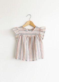Handmade Flutter Sleeve Baby Toddler Blouse | SwallowsReturn on Etsy