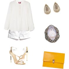 A fashion look from December 2014 featuring MANGO blouses, H&M shorts and Brian Atwood sandals. Browse and shop related looks.