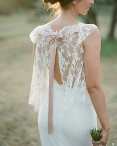 """Back details have become the ultimate trend recently and this piece surely got our attention! We adore the use of translucent lace that covers the back-…"""