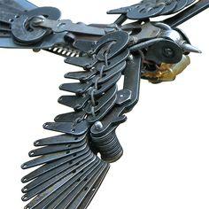 New Typewriter Part Birds by Jeremy Mayer typewriters sculpture birds assemblage