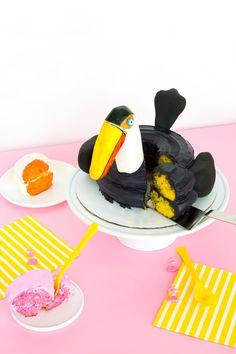 Toucan Pool Float Cake